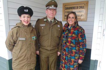 Seremi del Maule realizó visita a primera mujer a cargo de tenencia fronteriza en la región.