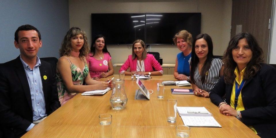 Reunión Ministra Plá con Corporación Trans