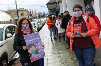 Injuv junto al MinMujer y Minjud Los Ríos realizan intervención Urbana de alto impacto en el centro de Valdivia