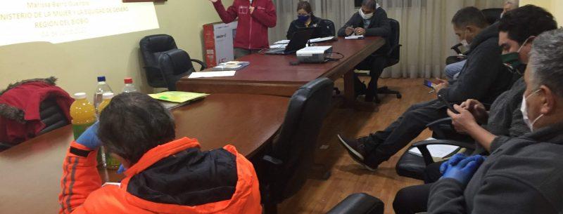 Seremi Marissa Barro capacita a Bomberos de Penco