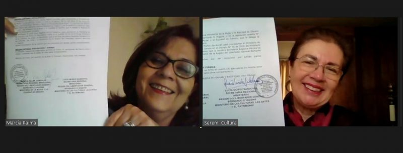 SEREMIS de la Mujer y de las Artes de O'Higgins firman convenio de colaboración