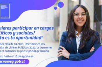 Seremi de la Mujer y Directora de SernamEG Ñuble invitan a participar de las Escuelas de Líderes Políticas 2020