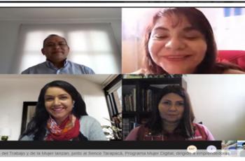 Tarapacá: Seremis de la Mujer y del Trabajo, junto al Sence lanzan Programa Mujer Digital