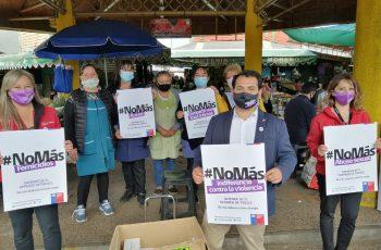 Autoridades y feriantes del Mercado de Chillán dijeron #NoMás a la violencia de género