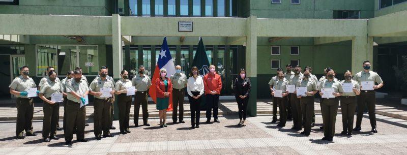 Ministra de la Mujer Certifica a Carabineros y alumnos de su Escuela de Formación en prevención de la violencia de género