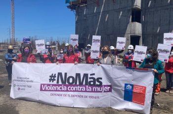 El área de la Construcción se suma a la campaña de Erradicación de Violencia Contra la Mujer.