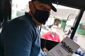 Conductores de locomoción colectiva de Chillán adhieren a tarea de erradicar la violencia contra la mujer