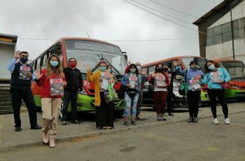 Buses de Valparaíso se unen a la tarea de erradicar la violencia contra las mujeres