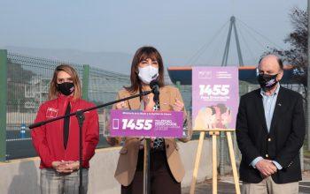 Ministros de la mujer y Obras Públicas lanzan convenio para difundir en carreteras canales de orientación para mujeres que están viviendo violencia